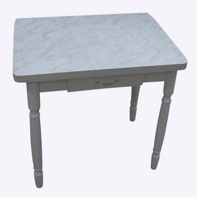 <p><b>Стол пластмассовый поворотно-раскладной с ящиком</b><p> В собранном виде изделие занимает мало места. Для перевода в рабочее положение столешницу раскладывают и поворачивают на 90°. <p> Цена – 5720 руб.