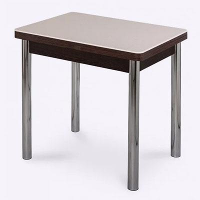 <p><b>Изделие с хромированными металлическими ножками и раскладной столешницей из покрытой пластиком ДСП</b><p> Размеры – 1200х800х730 (В). <p> Цена – 6500 руб.