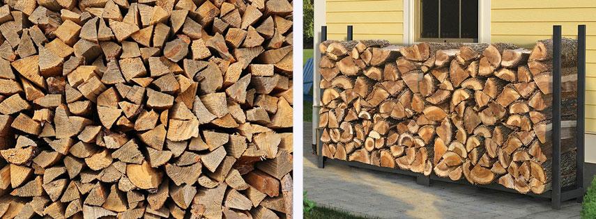 Укладка дров в штабель
