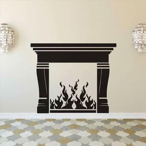 <p><b>Условные</b><p> Очертания камина нарисованы на стене или обозначены декоративными накладками.