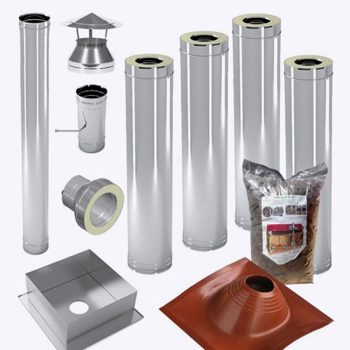 <p><b>Дымоход</b><p> Это камера для отвода продуктов горения через трубу. Дымосборники требуют периодической очистки от сажи.