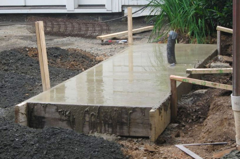 Фундамент для камина-мангала