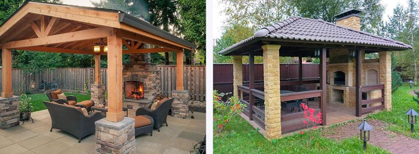 Садовые камин-мангалы как центры отдыха