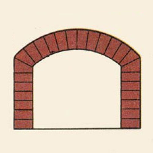 <p><b>Лучковая</b><p> Ее формируют из сточенных кирпичей, радиус закругления которых высчитывают по специальной формуле. Форма получаемой конструкции – пологая.