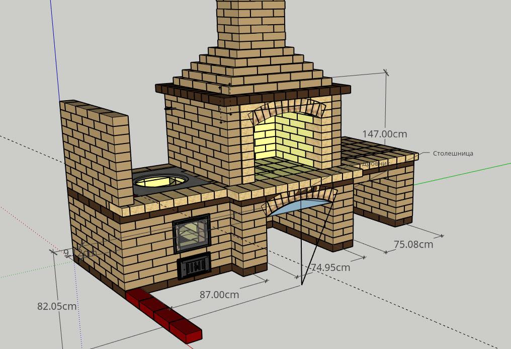 Проектирование камина-мангала