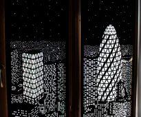 О рулонных шторах Ночной город с перфорацией