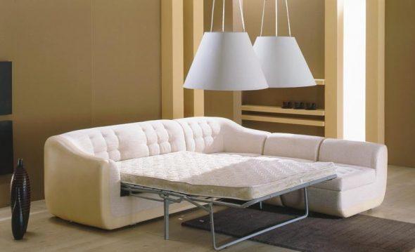 Угловой диван Виола от Лавсофа с механизмом трансформации седафлекс