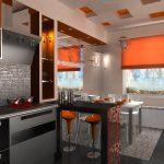 барные стулья в дизайне кухни