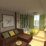 Гостиная спальня в маленькой квартире