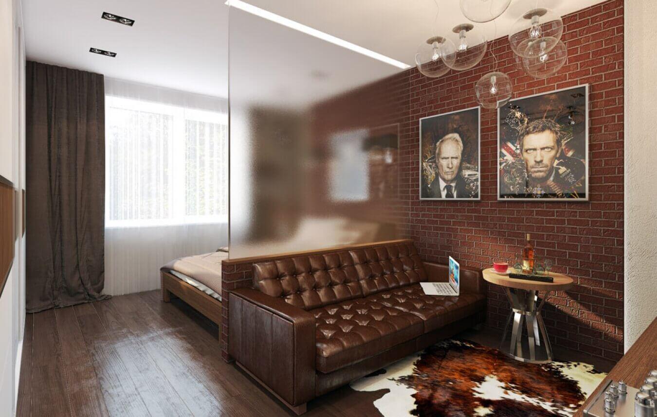 Классический дизайн спальни гостиной