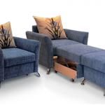 Кресло-кровать синего цвета