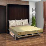 Кровать подъемная с диваном в большую спальню