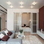 Малогабаритная гостиная спальня