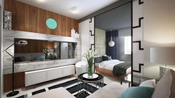 Проект гостиной спальни