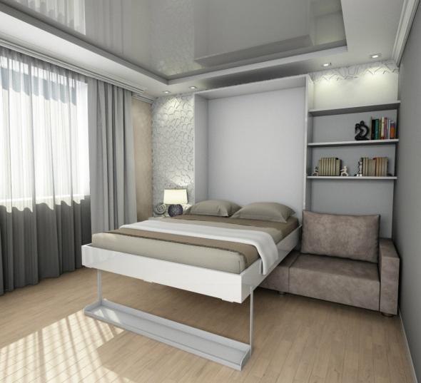 подъемная кровать с диваном в интерьере дома 75 фото идей