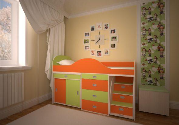 Схема сборки кровати чердак