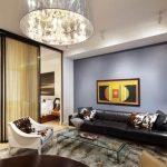 Стильный дизайн спальни гостиной