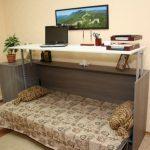 Стол кровать Аделия - уголок школьника