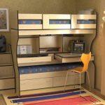 Стол кровать двуъхярусная в детскую