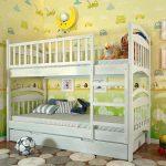 классическая двухуровневая кровать для детей