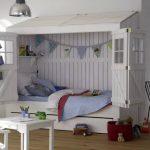 белая кровать домик для ребенка