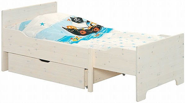 Белая раздвижная кровать