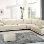 большой белый диван уголок