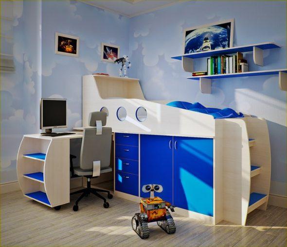 детская стол-кровать для мальчиков