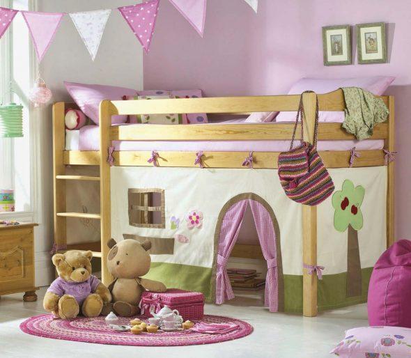 домик кровать двухуровневая