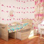 Детская кровать мебеленок Ростушка-2 Раздвижная