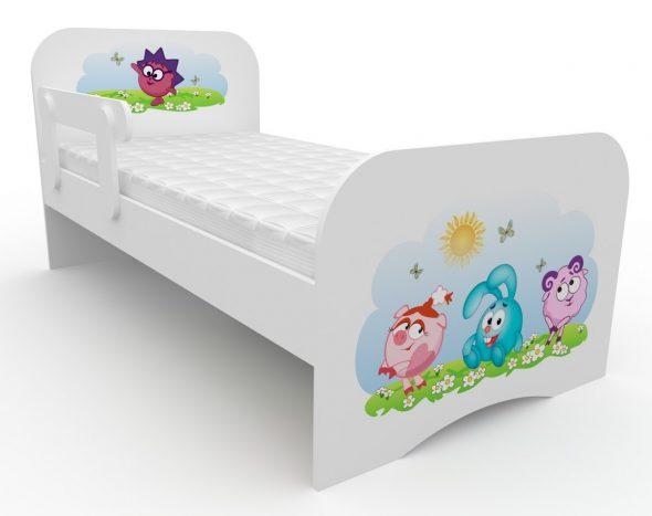кровать со смешариками