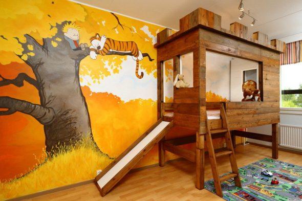 домик на дереве кровать