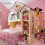 домик кровать для девочки в детскую