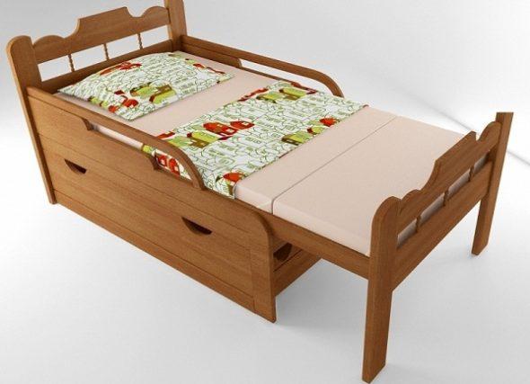 Детская раздвижная кровать Вырастайка
