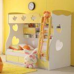 двухуровневая кровать для детской комнаты