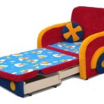 детское кресло-кровать разноцветное