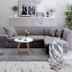 диван еврокнижка серый