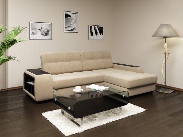 диван в интерьере квартиры