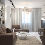 диван в интерьере маленькой гостиной
