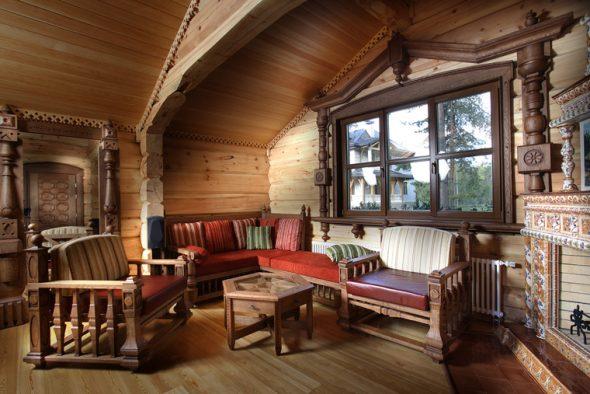стиль кантри мебель из дерева