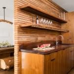 дизайнерский кухонный гарнитур из дерева