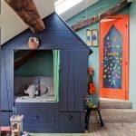 необычная домик кровать для ребенка
