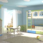 домик кровать в детскую с калиткой и забором