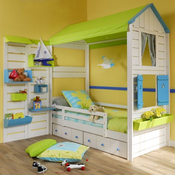 кровать домик для ребенка