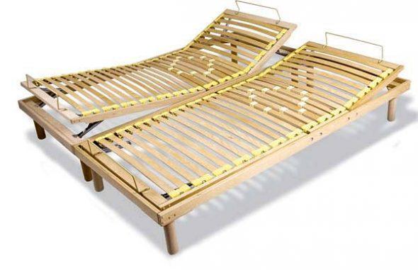Двойное основание для кровати из ламели