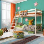 стильная 2-ярусная кровать в детскую