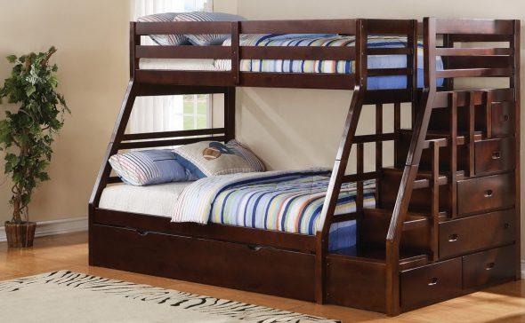 двухъярусная кровать дерево
