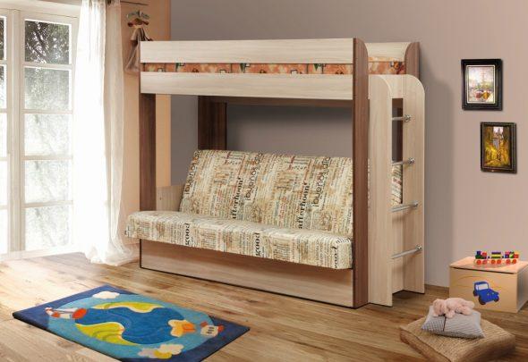 двухъярусная кровать диван