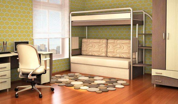 двухъярусная кровать диван прочная