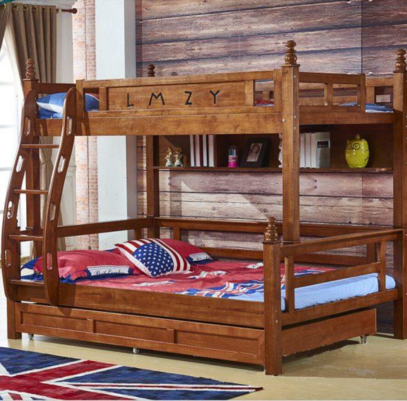двухъярусная кровать кантри